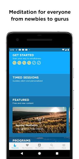 The Mindfulness App: relax, calm, focus and sleep screenshots 1