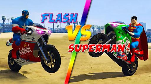Superheroes Traffic Line Rider apkmr screenshots 2