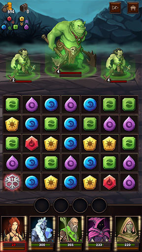 Monsters & Puzzles: RPG Match 3 1.1.0 screenshots 5