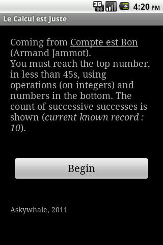 le calcul est juste screenshot 1