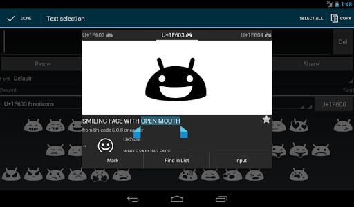Unicode Pad android2mod screenshots 9