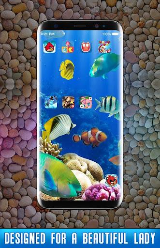 Fish Live Wallpaper 3D Aquarium Background HD 2021 apktram screenshots 2