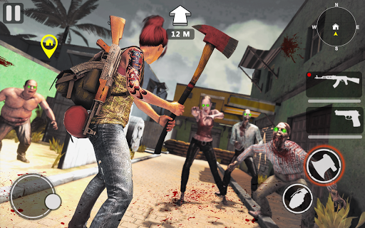death invader: zombie survival shooting game screenshot 2