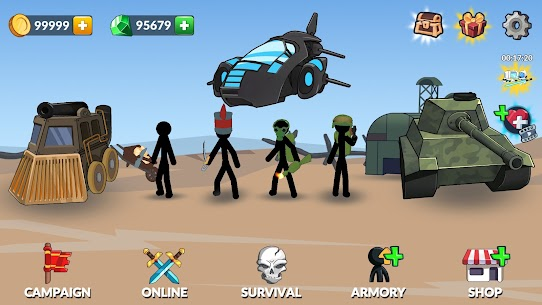 Age of Stickman Battle of Empires Mod Apk 1.0 (Inexhaustible Currency) 1