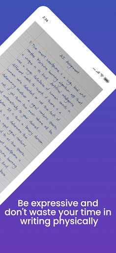 Handwriter - Text to Assignments, Essays, Letters android2mod screenshots 5