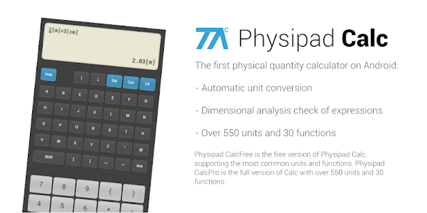 Unit converter and calculator – Physipad CalcPro 1.4 Latest MOD Updated 1
