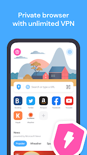 Aloha Browser Turbo - private browser + free VPN 3.9.1 Screenshots 1