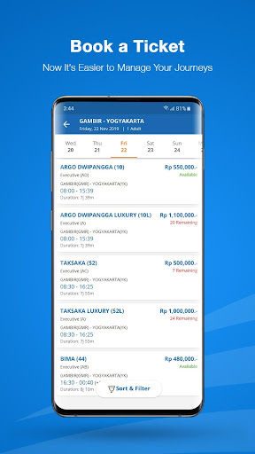 KAI Access: Train Booking, Reschedule, Cancelation 4.4.1 Screenshots 6