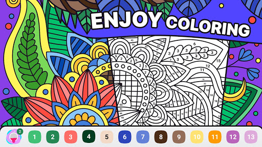 BATIQ 🎨 Coloring book by number | Color Therapy 1.5.3.0 screenshots 1