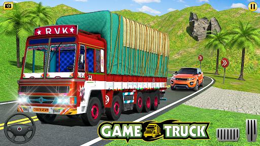 Indian Cargo Truck Transporter City Driver 3D Game  screenshots 9