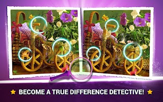 Find the Difference Flowers – Spot the Differences