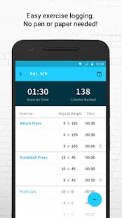 Exercise Tracker: Wear Fitness Screenshot