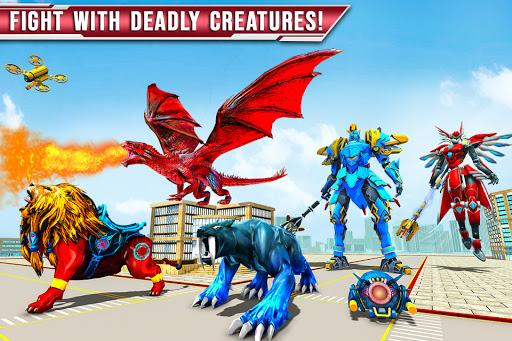 Royal Lion Robot Games- Dragon Robot Transform War  screenshots 3