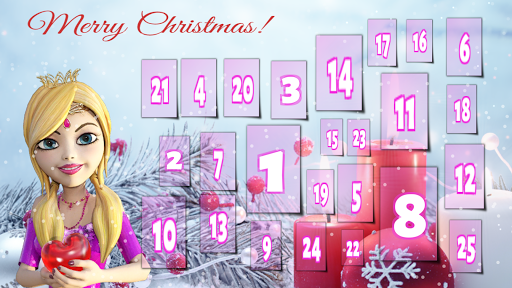 Princess Advent Calendar Xmas  screenshots 1