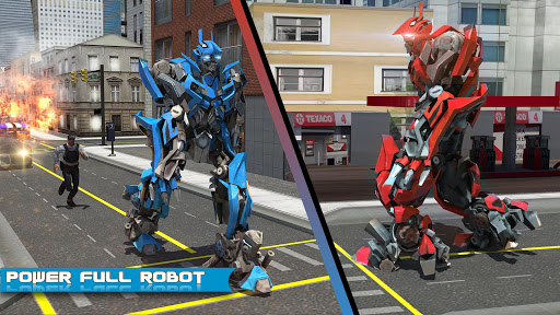 Futuristic Robot Dolphin City Battle - Robot Game 1.5 screenshots 1