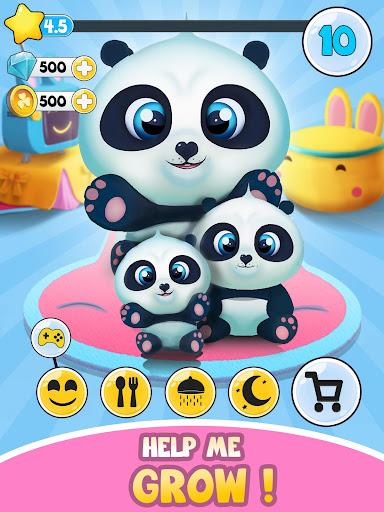 Pu - Cute giant panda bear, virtual pet care game 3.1 screenshots 8
