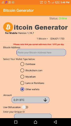 bitcoin generatore apk