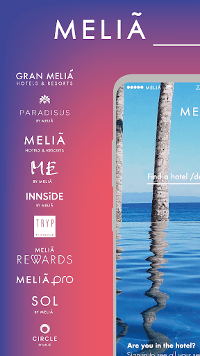 Meliá · Room booking, hotels and stays 5.4.0 screenshots 1