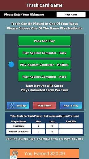 trash card game screenshot 3