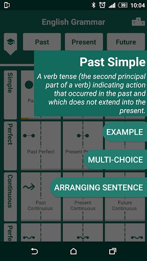 english tenses practice screenshot 2