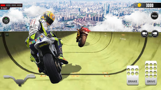 Impossible Mega Ramp Moto Bike Rider Stunts Racing modavailable screenshots 3