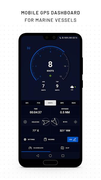 Marine GPS Dashboard & Recorder - RAMS Mariner