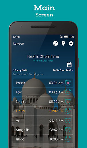 Prayer Times, Adhan, Qibla modavailable screenshots 1