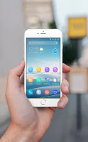 Blue Smooth Business  APUS  theme & HD wallpapers