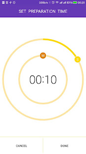 Tabata timer for workout with music