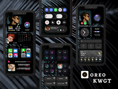 OREO KWGT Apk 2.1 (Paid) for Android 4