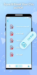 Free CV maker Resume Builder app with CV Templates