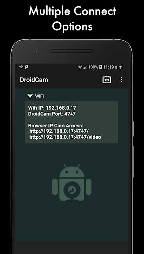 DroidCamX - HD Webcam for PC screen 1