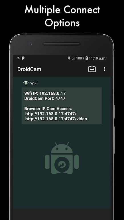 DroidCamX - HD Webcam for PC poster 1