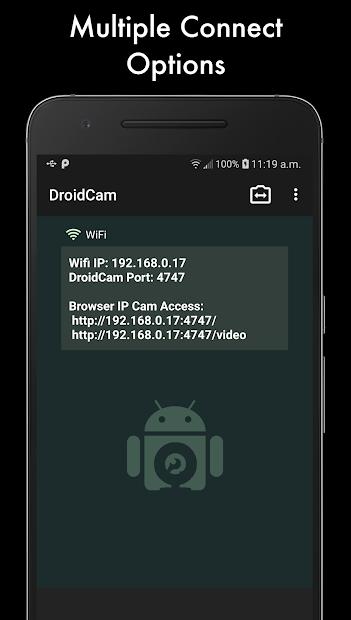 DroidCamX Android App Screenshot