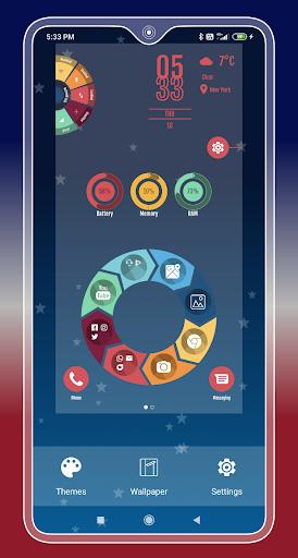Compact Hitech Launcher - sci-fi, win style Themes 4.0 Screenshots 14