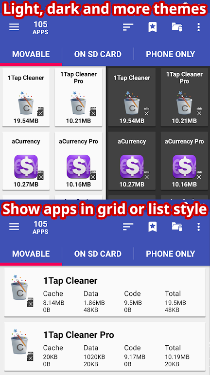AppMgr Pro III (App 2 SD, Hide and Freeze apps)  poster 4