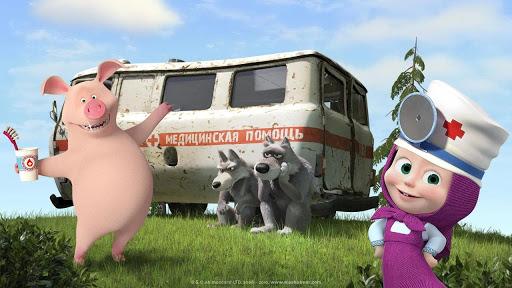 Masha and the Bear: Free Dentist Games for Kids  Screenshots 14