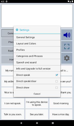 Speech Assistant AAC 5.7.4 Screenshots 5