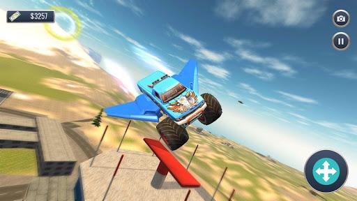 Offroad Flying Monster Truck Driving screenshots 2