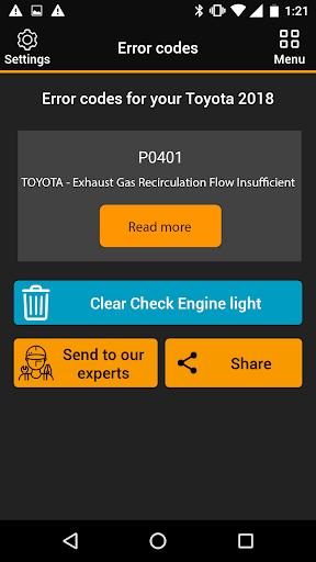 OBDclick - Free Auto Diagnostics OBD ELM327 0.9.28 Screenshots 3