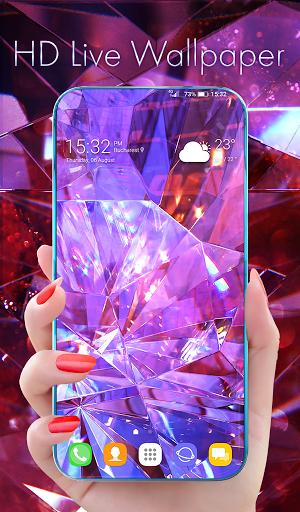 Diamond Wallpaper for Girls and Keyboard modavailable screenshots 1