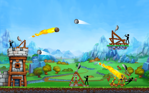 The Catapult — King of Mining Epic Stickman Castle 9