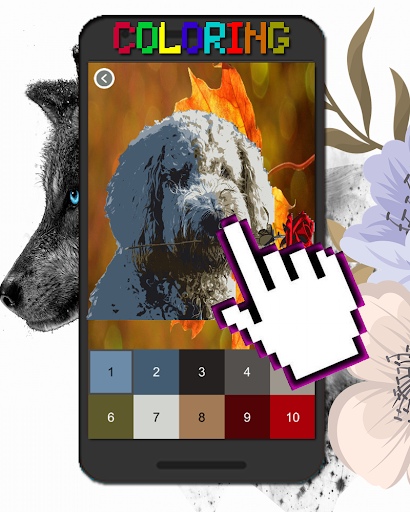 Dog Animal Coloring By Number-Pixel Art  screenshots 8