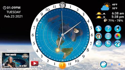 Flat Earth Sun, Moon & Zodiac Clock  screenshots 2