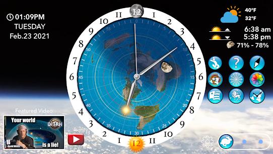 Flat Earth Sun, Moon  Zodiac Clock Apk 2