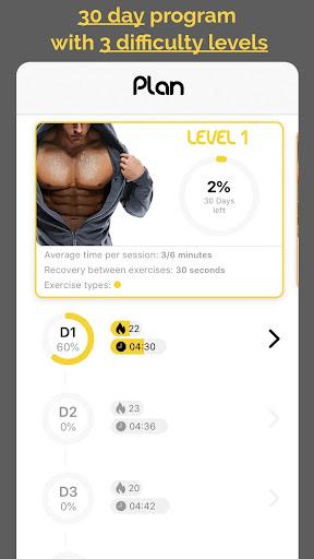 30 day challenge - CHEST workout plan 1.1.0 Screenshots 2