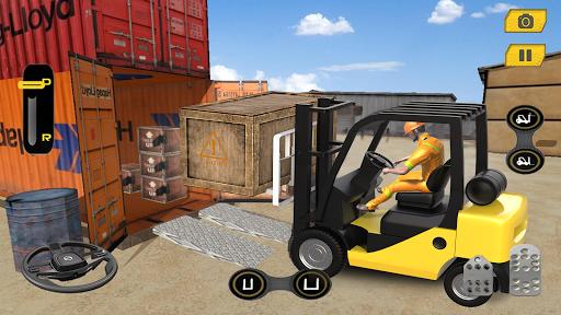 Real Forklift Simulator 2019: Cargo Forklift Games apktram screenshots 4