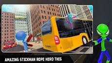 Flying Hero Stickman Rope Hero Grand Crime Cityのおすすめ画像2