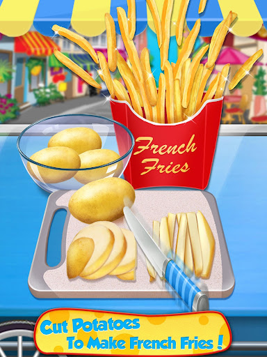 Street Food  - Make Hot Dog & French Fries screenshots 9