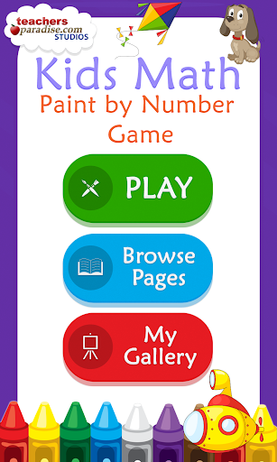Kids Math Paint by Number Game 2 screenshots 1